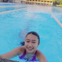 braces filipina non-celebrity pool shoulders smiling wet