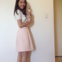 chinese full_body legs non-celebrity skirt smiling standing