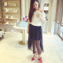 full_body legs malaysian non-celebrity selfshot shoulders skirt sleeveless standing