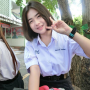 braces peace_sign schoolgirl smiling thai