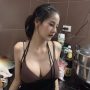 breasts cleavage non-celebrity shoulders sleeveless smiling thai