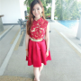 dress feet full_body legs malaysian non-celebrity skirt smiling