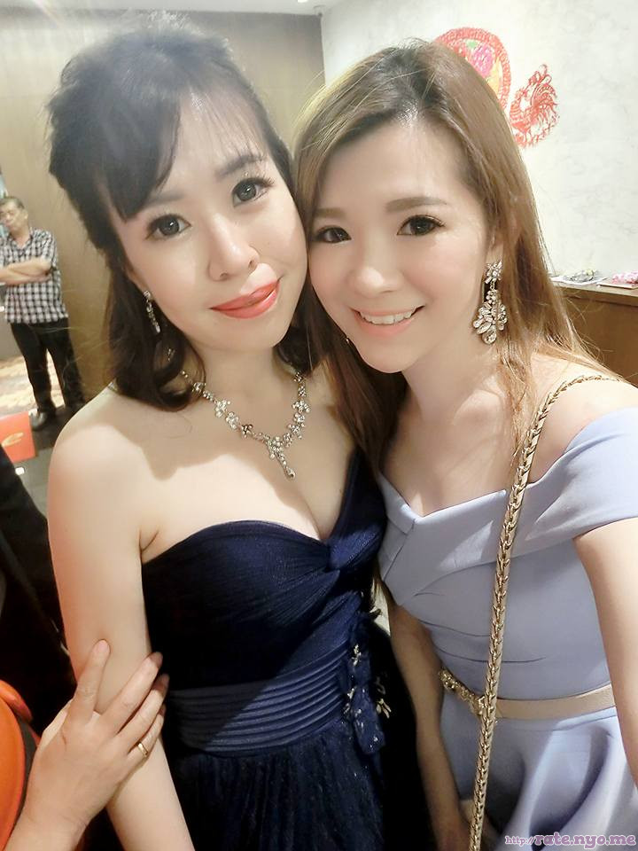 breasts cleavage dress malaysian non-celebrity shoulders two_girls