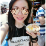 eating malaysian non-celebrity selfshot smiling sunglasses